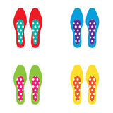 Set of Colorful Women Shoes Stock Image