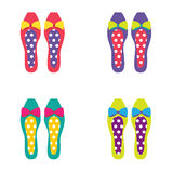 Set of Colorful Women Shoes Stock Photo
