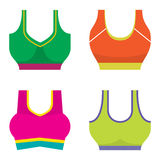 Set Of Colorful Women Sport Bra Stock Photo