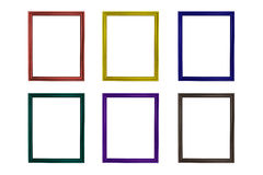 Set of colorful wooden frames Royalty Free Stock Photography