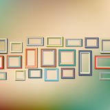 Set of colorful wooden frames. Eps 10  illustration Royalty Free Stock Photo