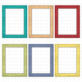 Set of colorful wooden frames. Wooden square picture frames of colorful set for your web design. Abstract colorful picture frames. Set  of colorful wooden frames Royalty Free Stock Photography