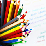 Set of colorful wooden pencils Royalty Free Stock Images