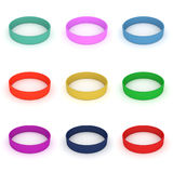 Set of colorful wristband Stock Images