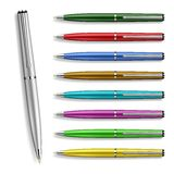 Set Colorfull Pens Royalty Free Stock Photography