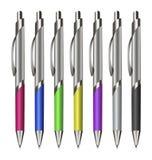 Set Colorfull Pens. Stock Photo