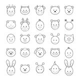 Set of coloring book elements Stock Photos