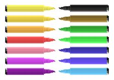 Set Of Coloring Markers With Vibrant Colors. Vector stock illustration