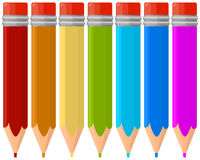 Set of coloring pencils Stock Images