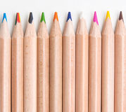 Set of coloring pencils Royalty Free Stock Photos
