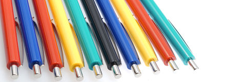 Set of coloring pens Stock Images