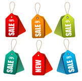 Set of colorrful sale tags. Concept of discount sh Royalty Free Stock Image