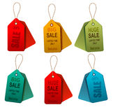 Set of colorrful sale tags. Concept of discount sh Royalty Free Stock Photos