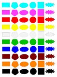 Set colors buttons. The collection palette of colored shapes buttons for the web Royalty Free Stock Photos