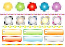 Set Colors Buttons For Web, Vector Stock Image