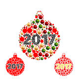 Set. Colors Christmas balls Royalty Free Stock Photo