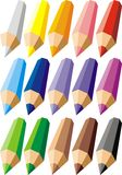 Set of colors crayons Royalty Free Stock Image