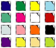 Set colors stickers - vector Royalty Free Stock Images