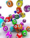 A set of colouored bingo balls Stock Image
