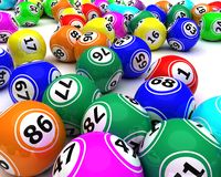 A set of colouored bingo balls Royalty Free Stock Images