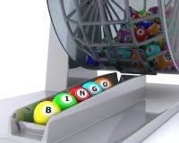 A set of colouored bingo balls Stock Photography