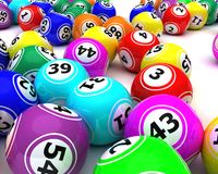A set of colouored bingo balls Stock Image