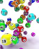 A set of colouored bingo balls stock illustration