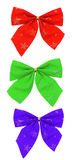 Set of colour bows Stock Image