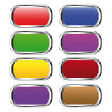 Set of colour buttons Stock Image