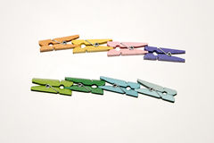 Set of colour clothespins. Royalty Free Stock Photography