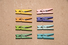 Set of colour clothespins. Royalty Free Stock Image