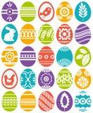 Set of colour easter eggs, vector Royalty Free Stock Photos