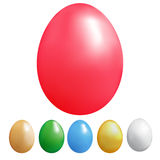 Set of colour eggs Stock Photography