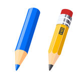 Set of colour and gray pencils for drawing. Set of colour pencils for drawing. Eps10  illustration.  on white background Stock Photos