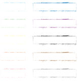 Set of Colour Grunge Frames Stock Photos