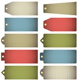 Set of colour  label with knitwear texture, vector Royalty Free Stock Photography