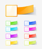 Set of colour labels Royalty Free Stock Images