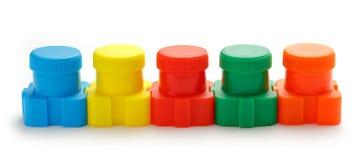 Set of colour paints Stock Image