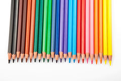 Set of colour pencil Royalty Free Stock Photo