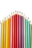 Set of colour pencils Stock Photo