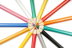 Set of colour pencils Stock Photography
