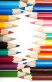 Set of colour pencils Stock Photography