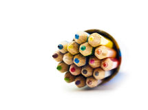 Set of colour pencils in a box Royalty Free Stock Images