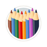 Set of colour pencils for drawing. Eps10  illustration.  on white background Royalty Free Stock Image