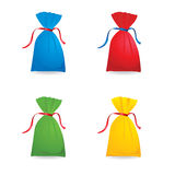 Set of colour sacks Royalty Free Stock Image