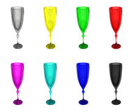 Set colour wineglass Royalty Free Stock Photography