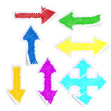 Set of coloured arrows Stock Image