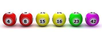 A set of coloured bingo balls Stock Photo