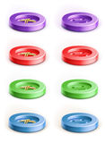 Set of coloured button Royalty Free Stock Image