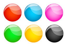 Set of coloured buttons Stock Photo